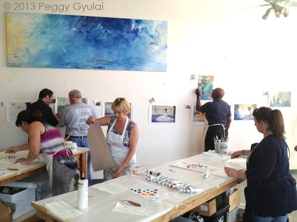 2013 05 03 Pcw Class Enjoying Postprint Painting Photo