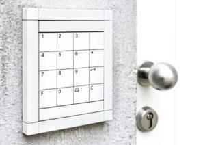 electric key lock front door